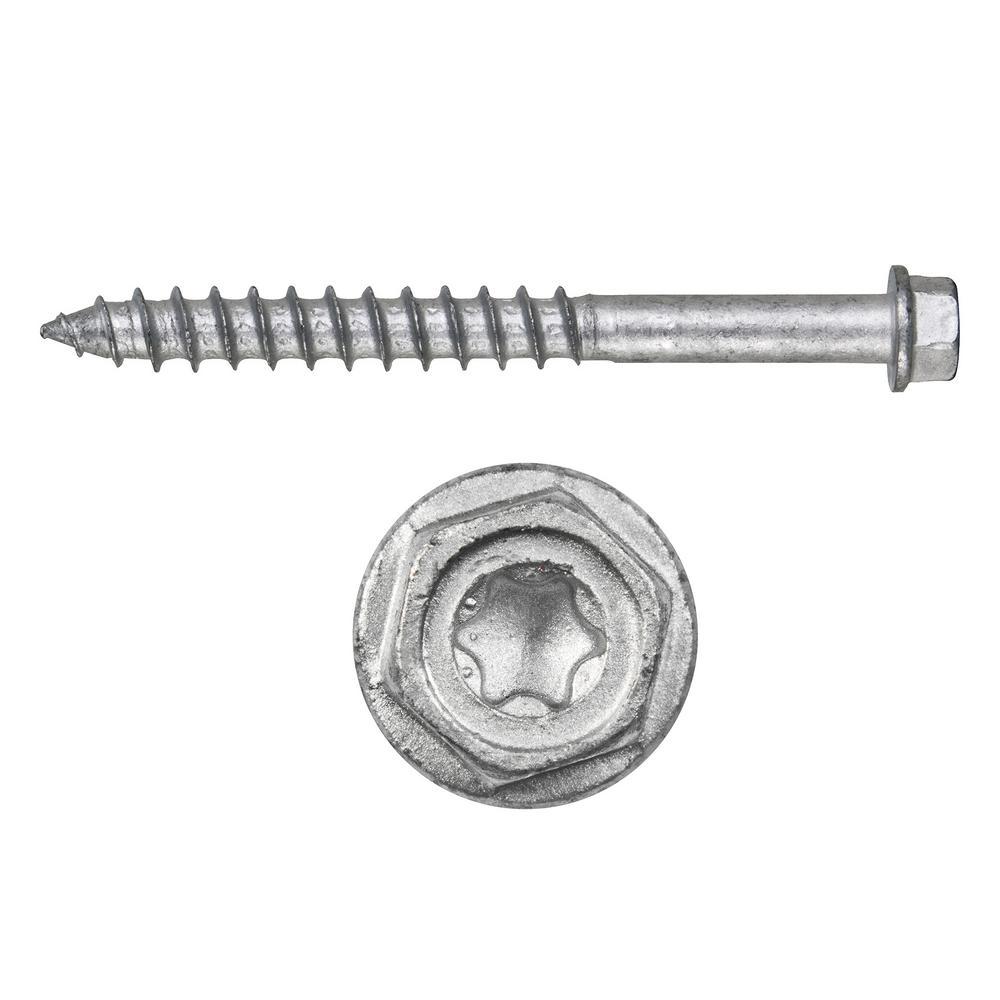 Kwik-Con II 1/4 in. x 3-1/4 in. Zinc Plated Carbon Steel Torx Hex Head Concrete Screw Anchor (100-Pack)