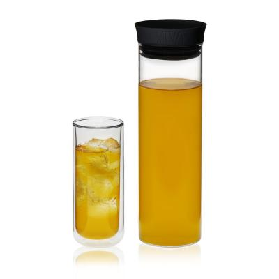 Minima 3-Piece Glass Cold Brew Carafe and Classic Double Walled Tall Drinkware Set