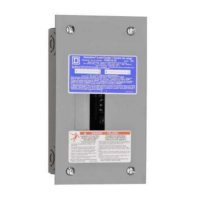 Homeline 70 Amp 2-Space 4-Circuit Indoor Flush Mount Main Lug Load Center with Cover