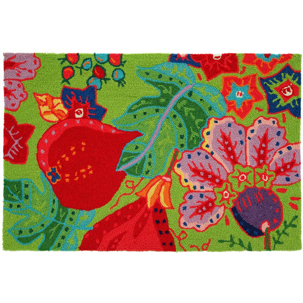 pink floral designs rug