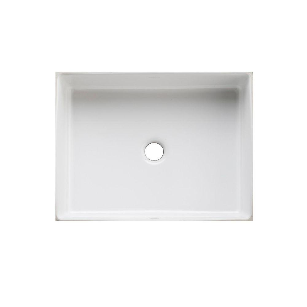 Verticyl Vitreous China Undermount Bathroom Sink In White With Overflow Drain