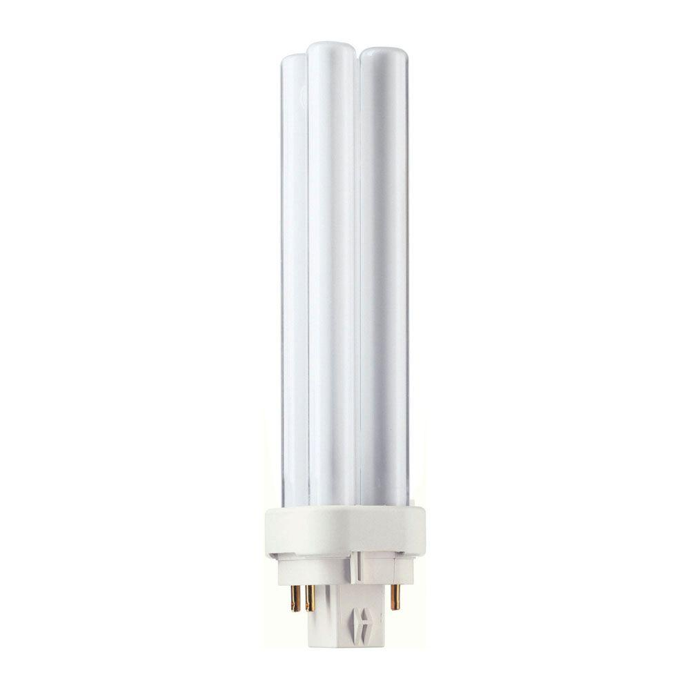 18-Watt Soft White (2700K) PL-C 4-Pin (G24q-2) Energy Saver Compact Fluorescent