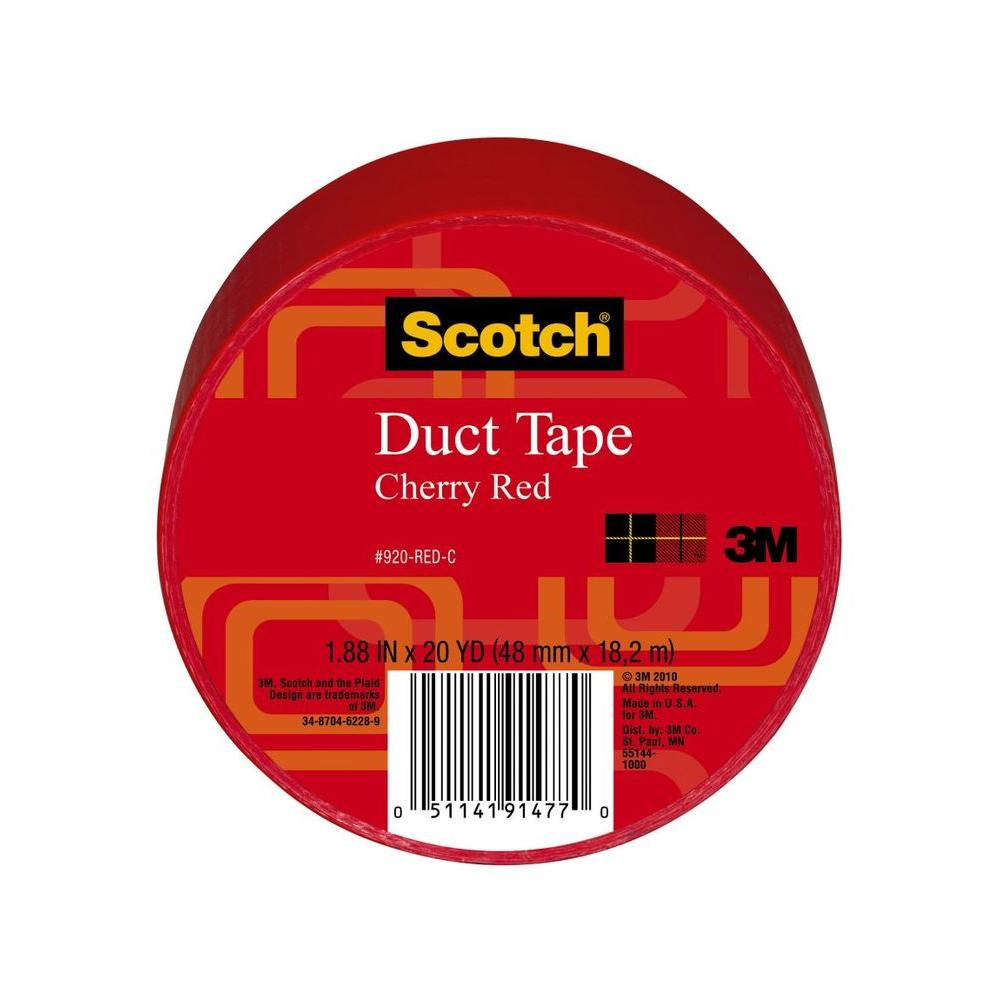 Scotch 1.88 in. x 20 yds. Red Duct Tape (Case of