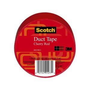 3M Scotch 1.88 inch x 20 yds. Red Duct Tape (Case of 6) by 3M