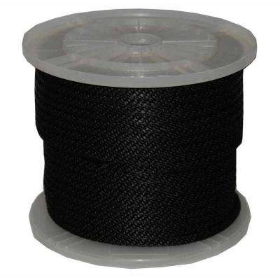 5/8 in. x 200 ft. Solid Braid Multi-Filament Polypropylene Derby Rope in Black