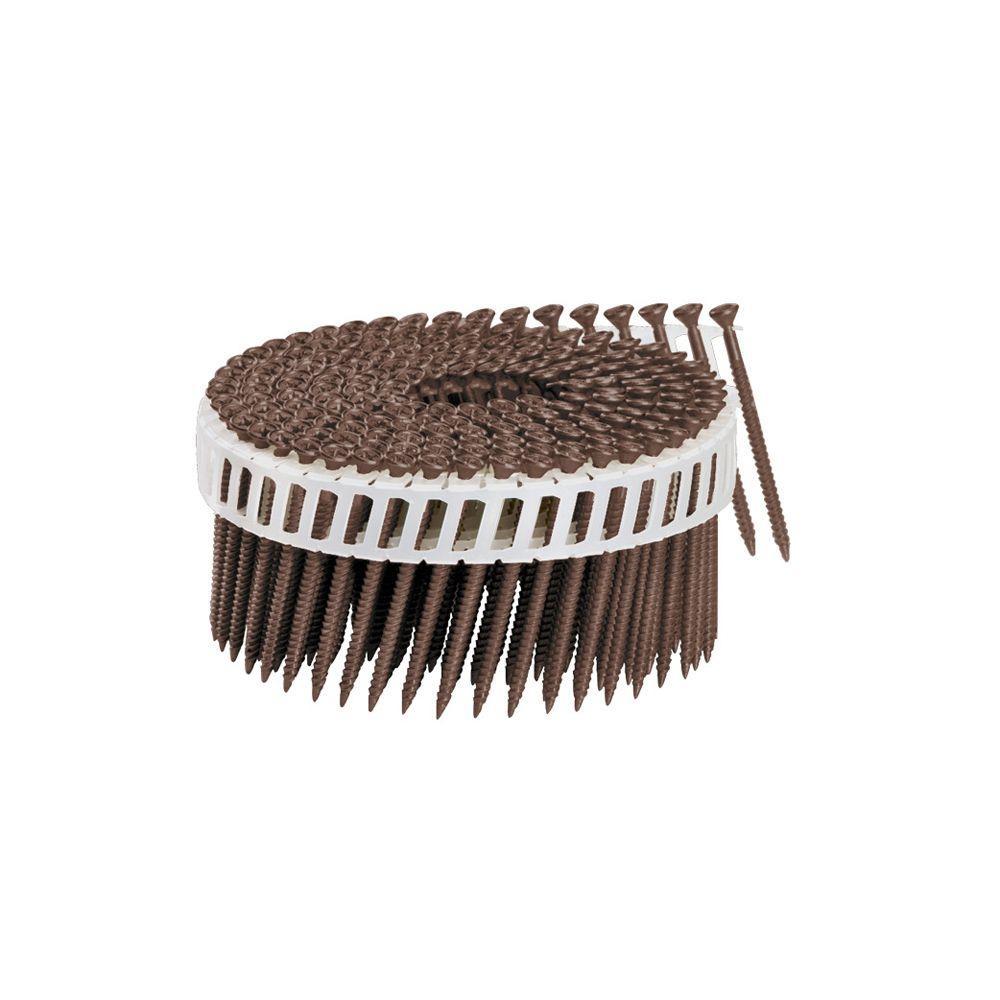1-3/4 in. x 1/9 in. 15-Degree Brown Plastic Sheet Coil Torx Head Nail Screw Fastener (2,000-Pack)