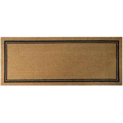 With Border 60 in. x 24 in. Slip Resistant Coir Door Mat