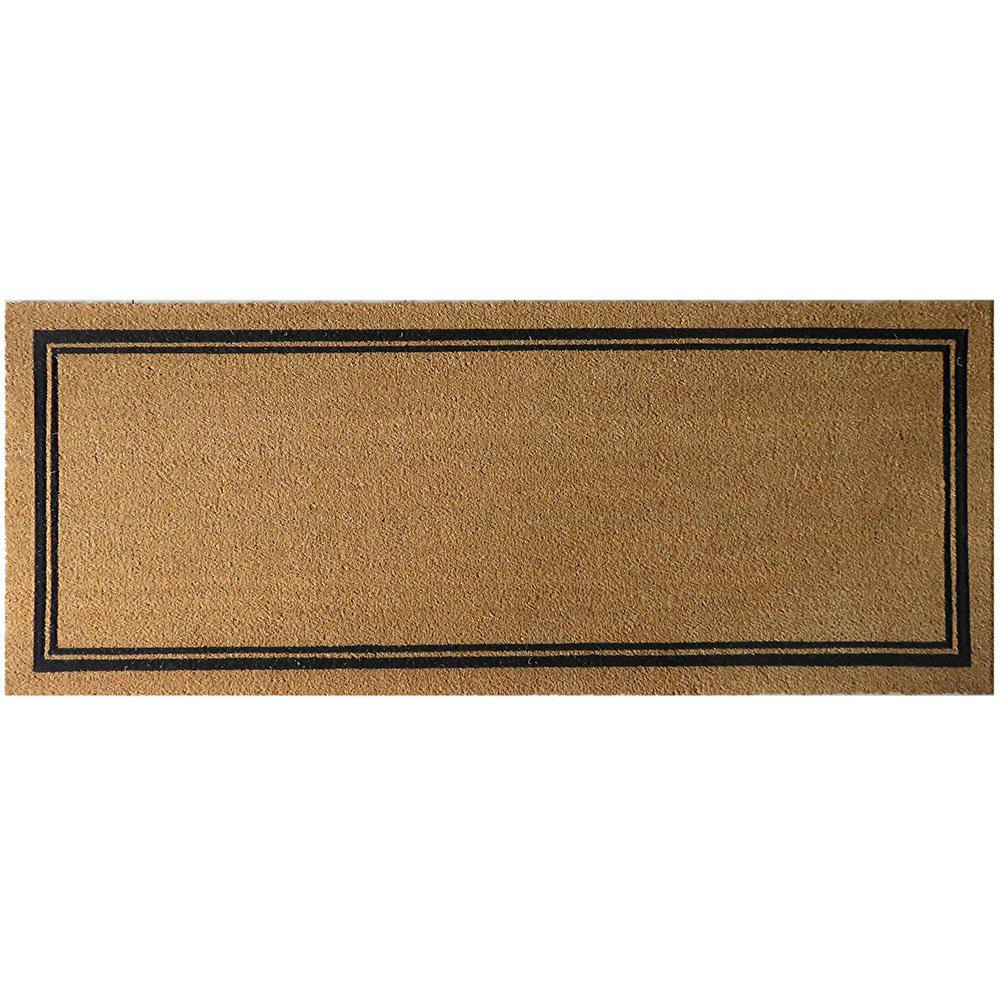 With Border 60 in. x 24 in. Slip Resistant Coir Door Mat