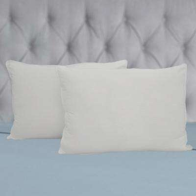 Hotel Selection Down Alternative Microfiber Embossed Pillows, Queen, Firm Filled (Set of 2)