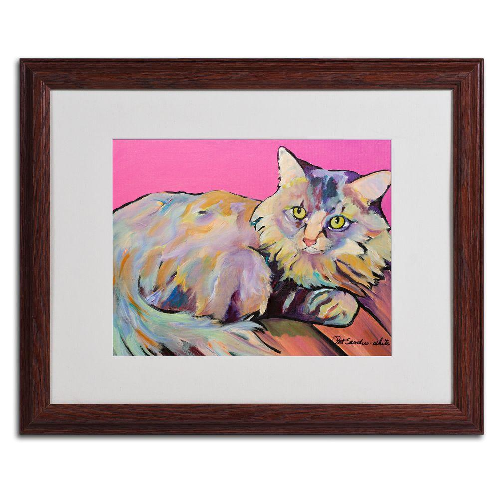 16 in. x 20 in. Catatonic Matted Framed Wall Art