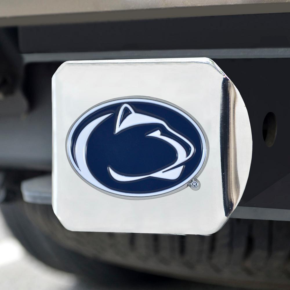 Penn State University Chrome Hitch Cover with Color