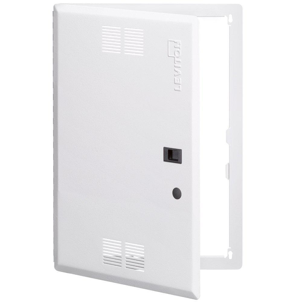 21 in. Premium Vented Hinged Door, White (for use with 21