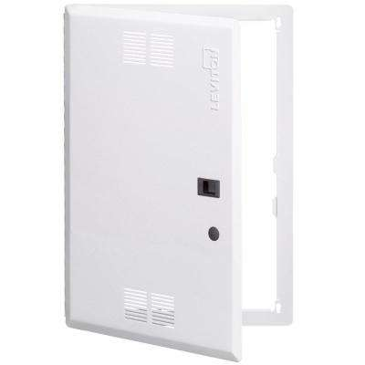 21 in. Structured Media Enclosure Premium Vented Hinged Door, White