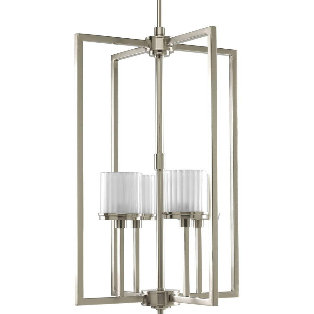 Progress Lighting Encore Collection 4-Light Brushed Nickel Foyer Pendant-DISCONTINUED