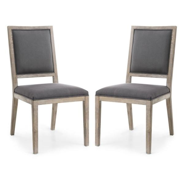 Poly and Bark Rhone Dining Side Chair in Anchor Grey (Set
