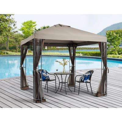 8 ft. x 8 ft. Rococo Gazebo with Mosquito Net