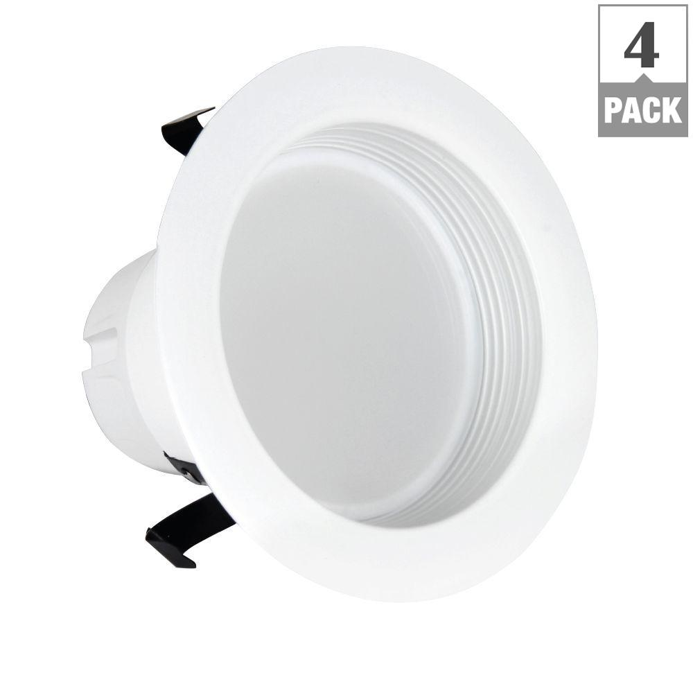 Feit electric 40w equivalent warm white 3 in white baffle - Retrofit bathroom fan with light ...