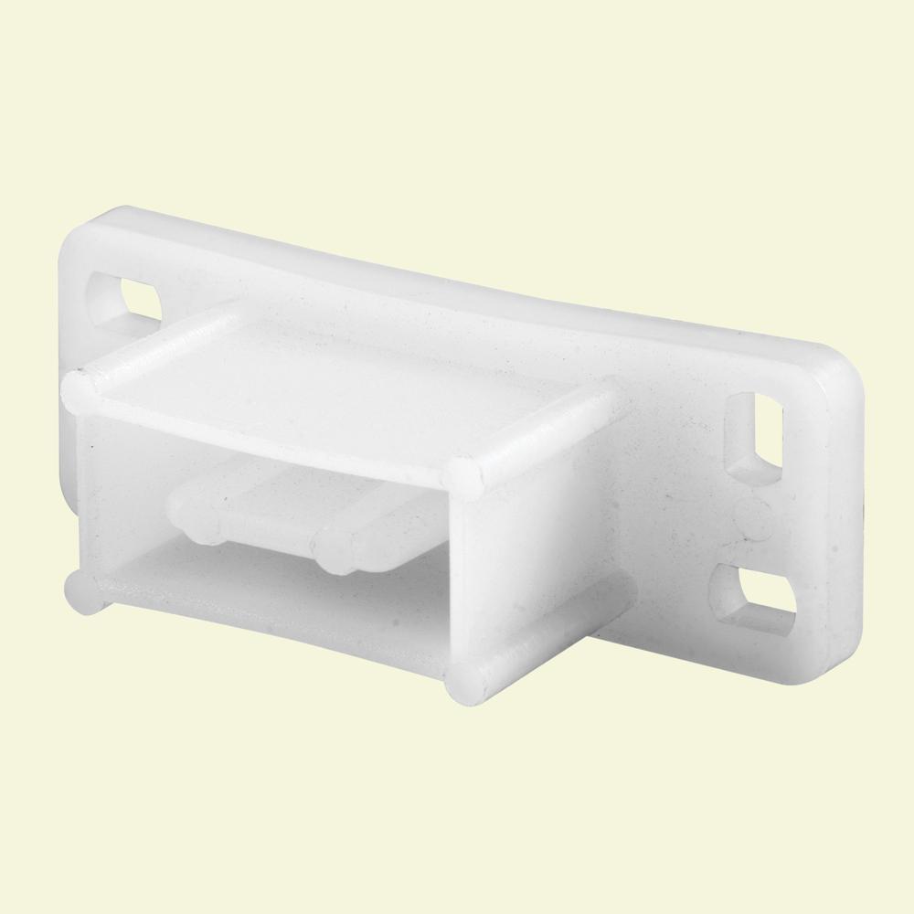 White Nylon Drawer Track Backplate