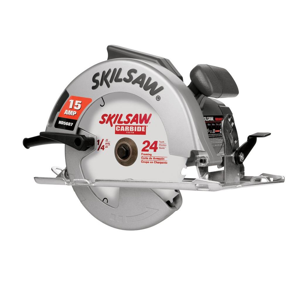 Skil factory reconditioned corded electric 7 14 in skilsaw skil factory reconditioned corded electric 7 14 in skilsaw circular saw with greentooth Image collections