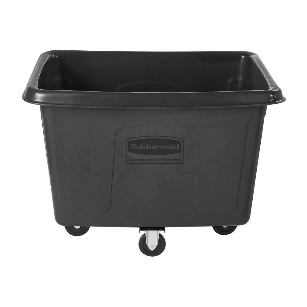 Go Home Black Industrial Kitchen Cart At Lowes Com: Rubbermaid Commercial Products 14 Cu. Ft. Cube Truck