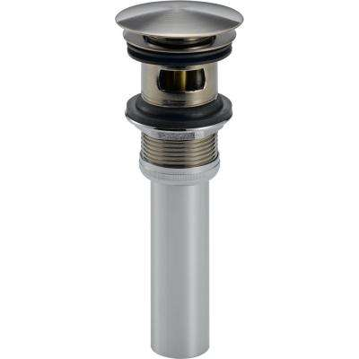 Push Pop-Up Drain Assembly with Overflow Holes in Stainless