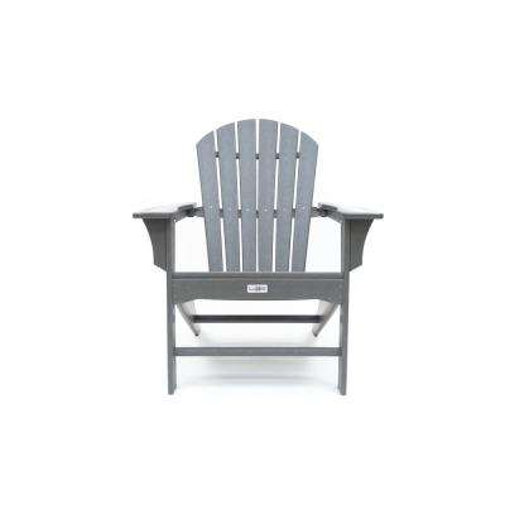 Hampton Gray Poly Outdoor Patio Plastic Adirondack Chair