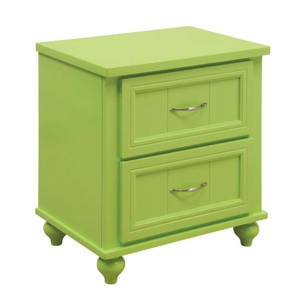 Furniture of America Cara 2-Draw Green Nightstand IDF-7322AG-N