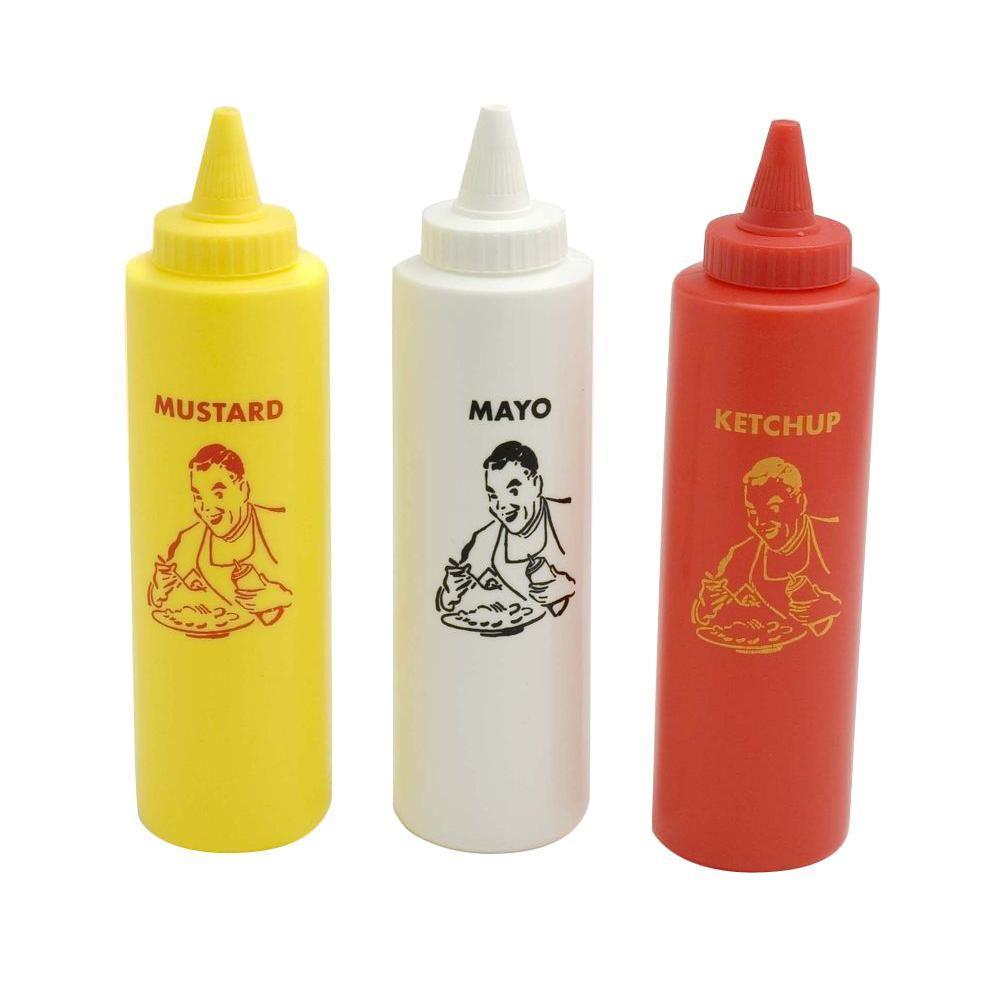 Charcoal Companion Condiment Bottle Set (Set of 3)