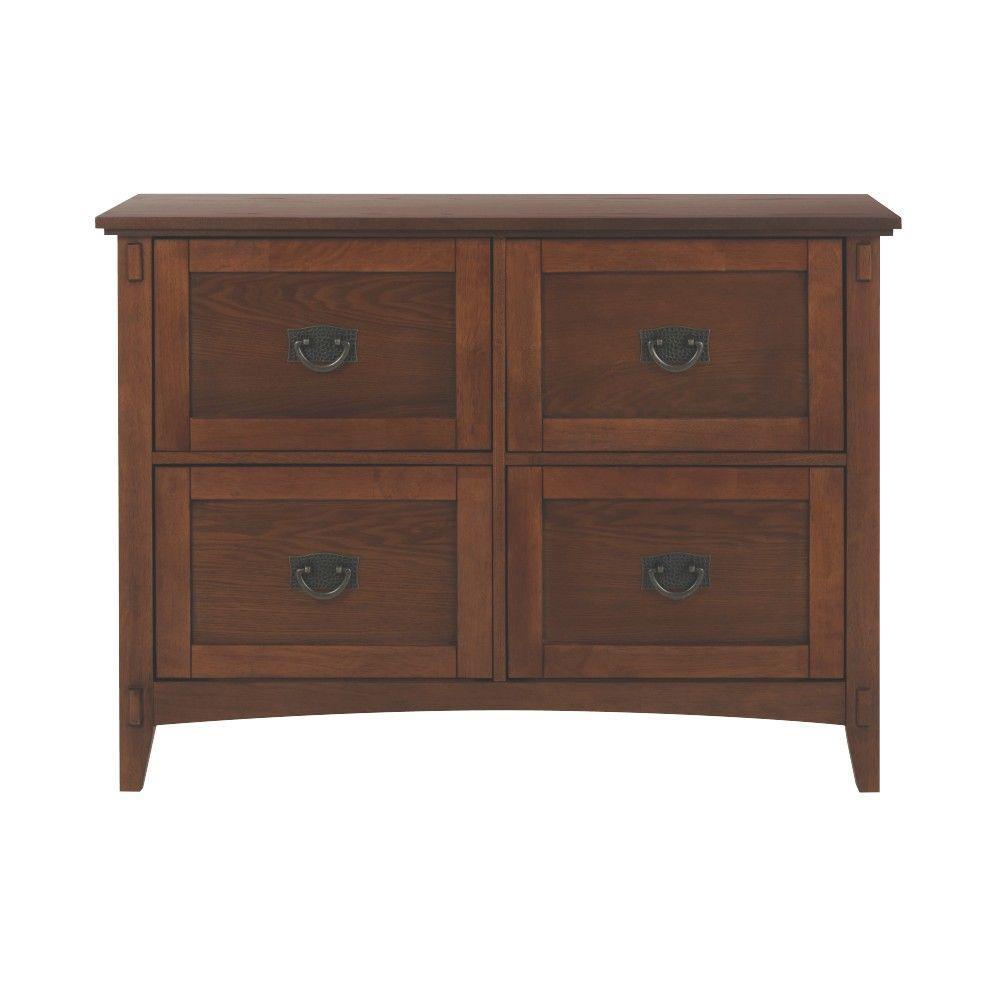 Artisan Medium Oak 4 Drawer File Cabinet