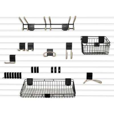 Handiwall 4 ft. x 8 ft. Slat Wall Starter Kit in White