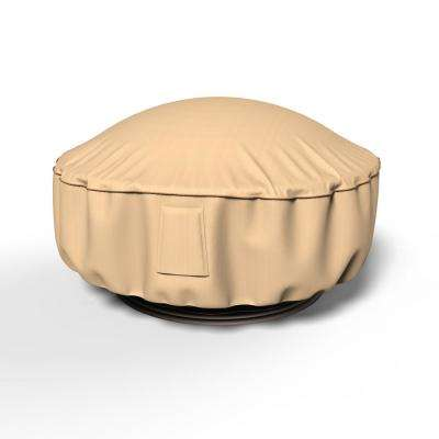 Budge Rust Oleum Neverwet 36 In Dia 15 In Drop Tan Outdoor Fire Pit Cover P9a15tnnw1 The Home Depot