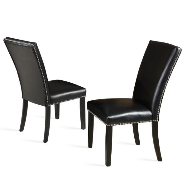 Finley Black Ebony Polyurethane Side Chair (Set of 2)