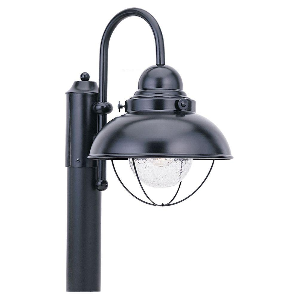 Sea Gull Lighting Sebring 1 Light Outdoor Black Post Top