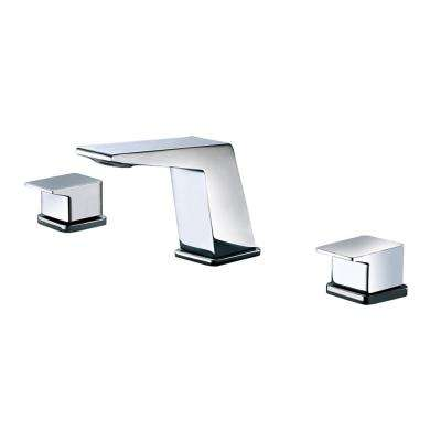 AB1471-PC 8 in. Widespread 2-Handle Luxury Bathroom Faucet in Polished Chrome
