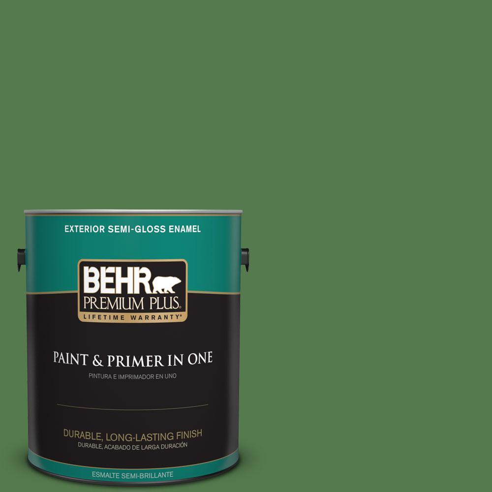 1-gal. #450D-7 Torrey Pine Semi-Gloss Enamel Exterior Paint