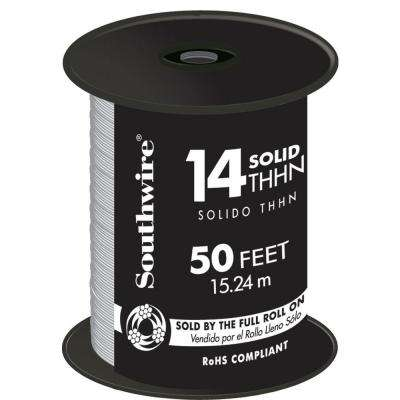 50 ft. 14 White Solid CU THHN Wire