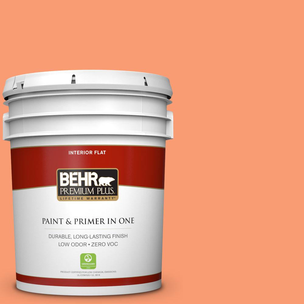 BEHR Premium Plus 5-gal. #P200-5 Burning Coals Flat Interior Paint