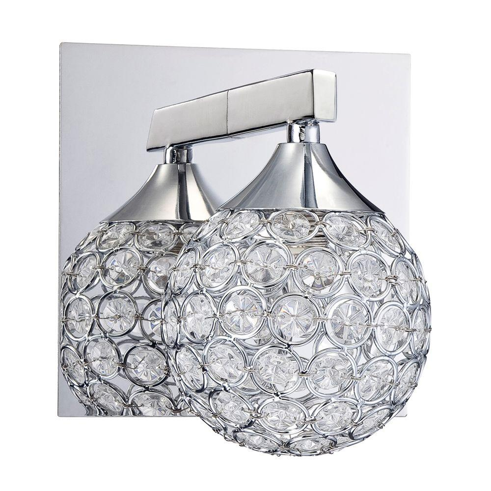 Designers Choice Collection CRYS Series Chrome Bath Light