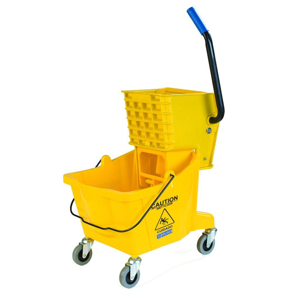 Carlisle Carlisle 26 qt. Yellow Mop Bucket/Wringer Combo