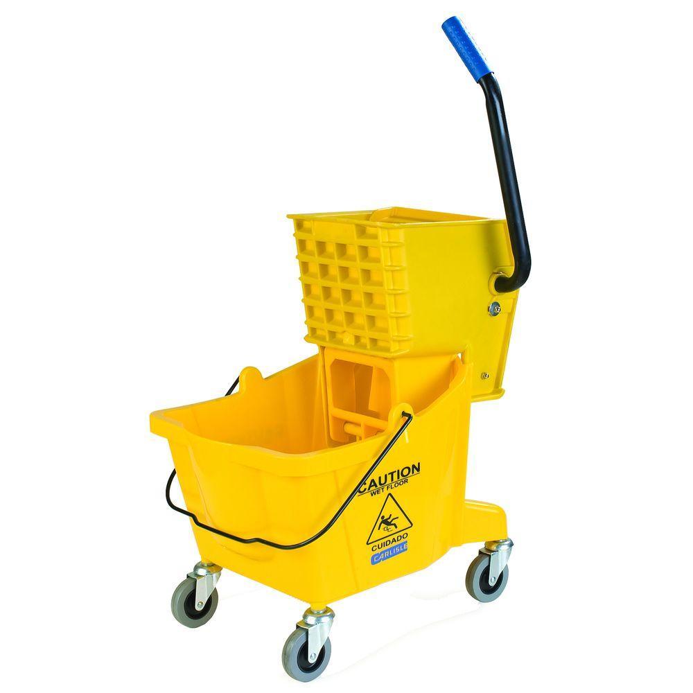 26 qt. Yellow Mop Bucket/Wringer Combo