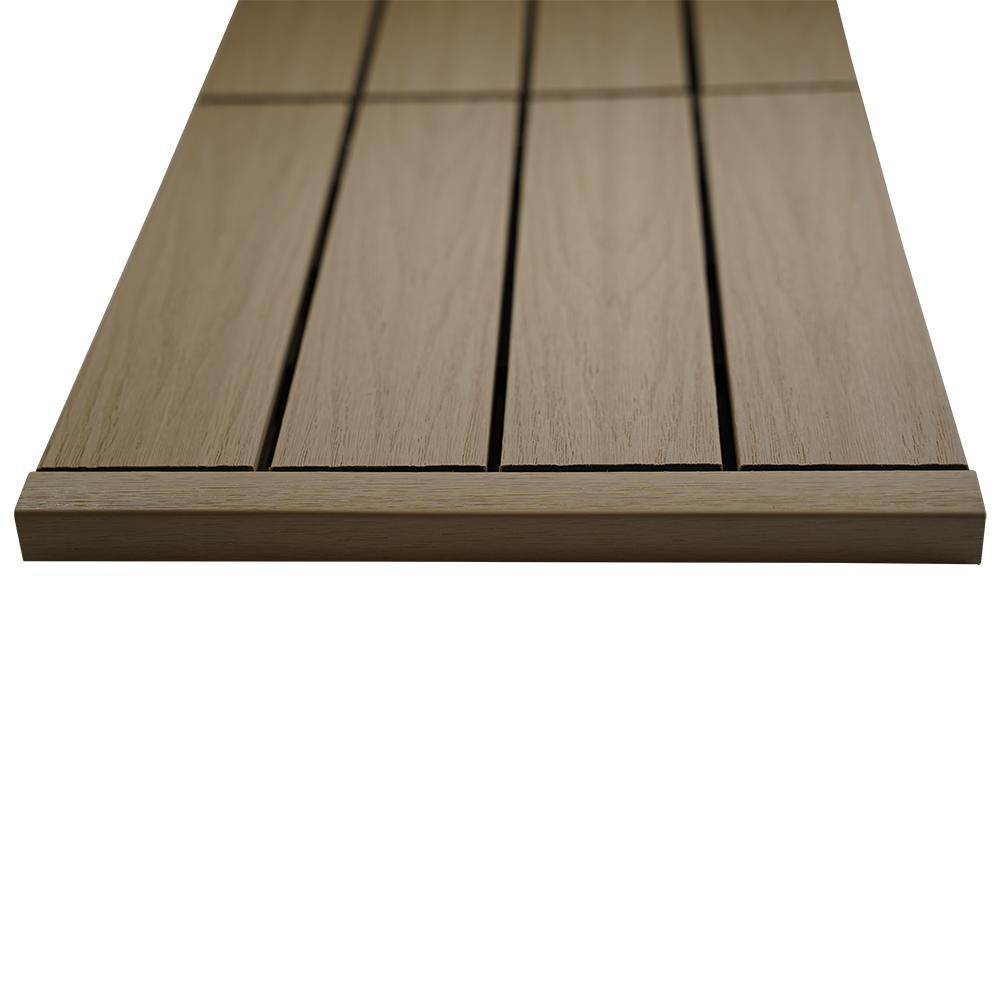 1/12 ft. x 1 ft. Quick Deck Composite Deck Tile Straight End Fascia in Japanese Cedar (4-Piece/Box)
