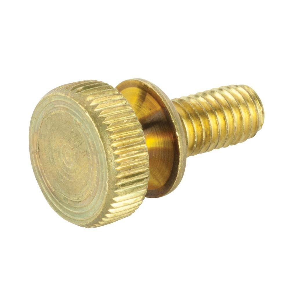 #10-24 x 1 in. Brass Knurled Screw (2-Pack)