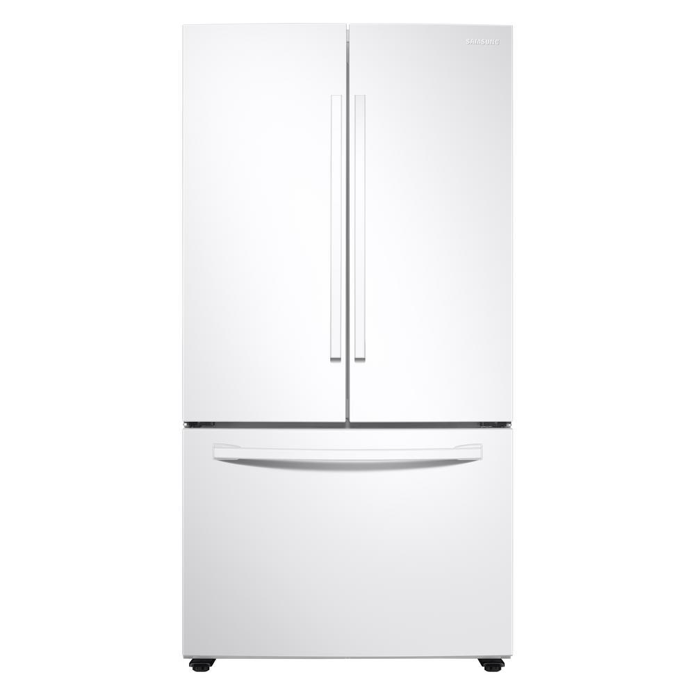 Samsung 28.2 cu. ft. French Door Refrigerator in White with internal water dispenser