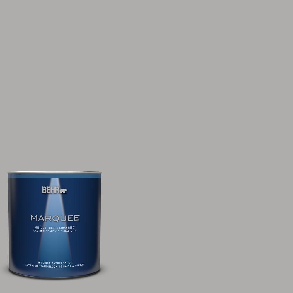 Behr Marquee 1 Qt Home Decorators Collection Hdc Nt 27a Soft Pebble One Coat Hide Satin Enamel Interior Paint Primer 745404 The Home Depot