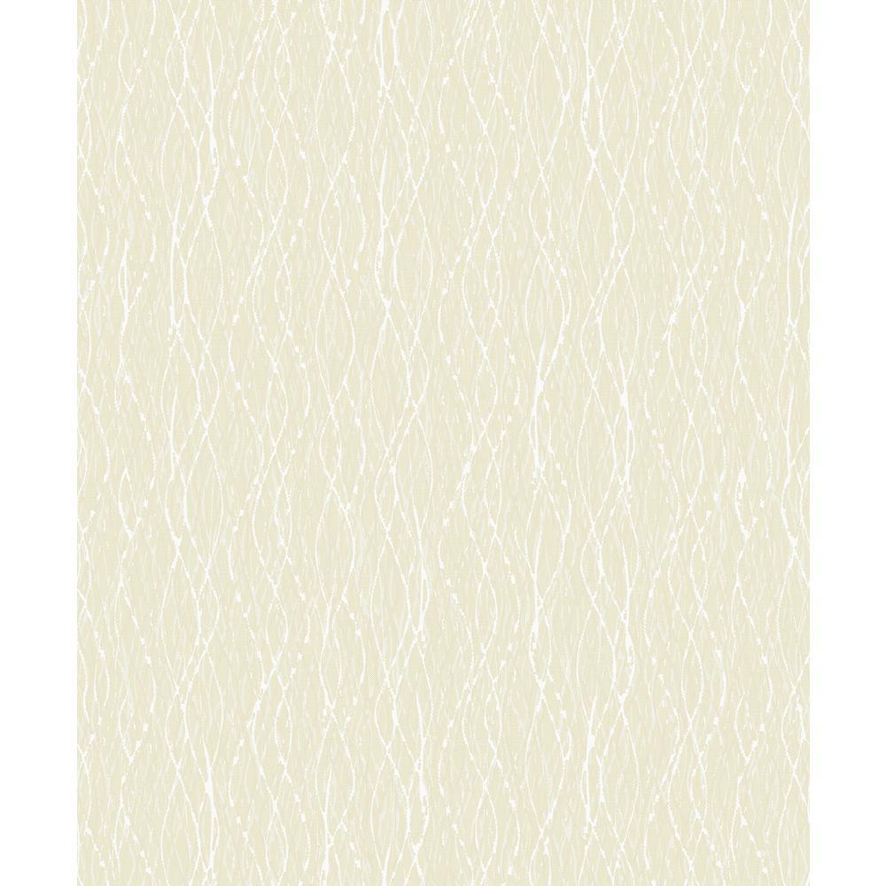Quinn Light Yellow Twist Wallpaper Sample
