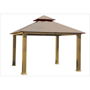 12 ft. x 12 ft. Antique Beige Gazebo by