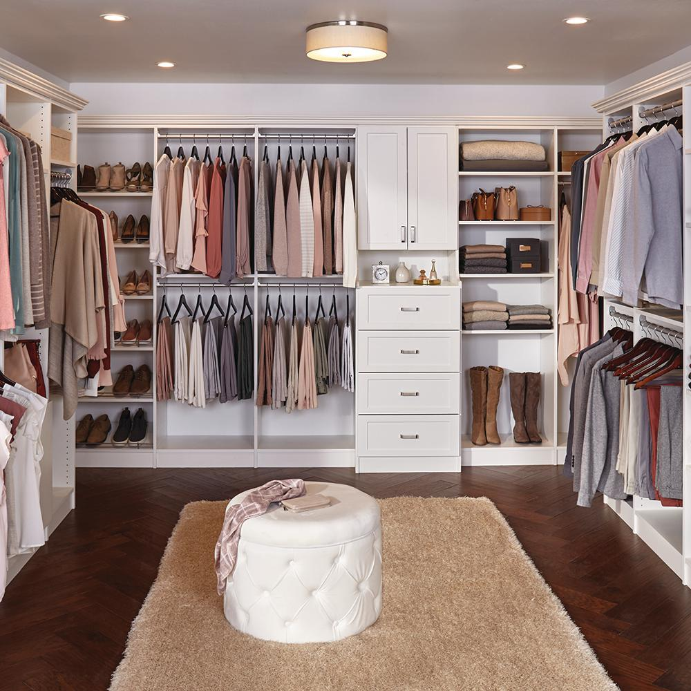 Installed Walk In Wood Closet Organization System