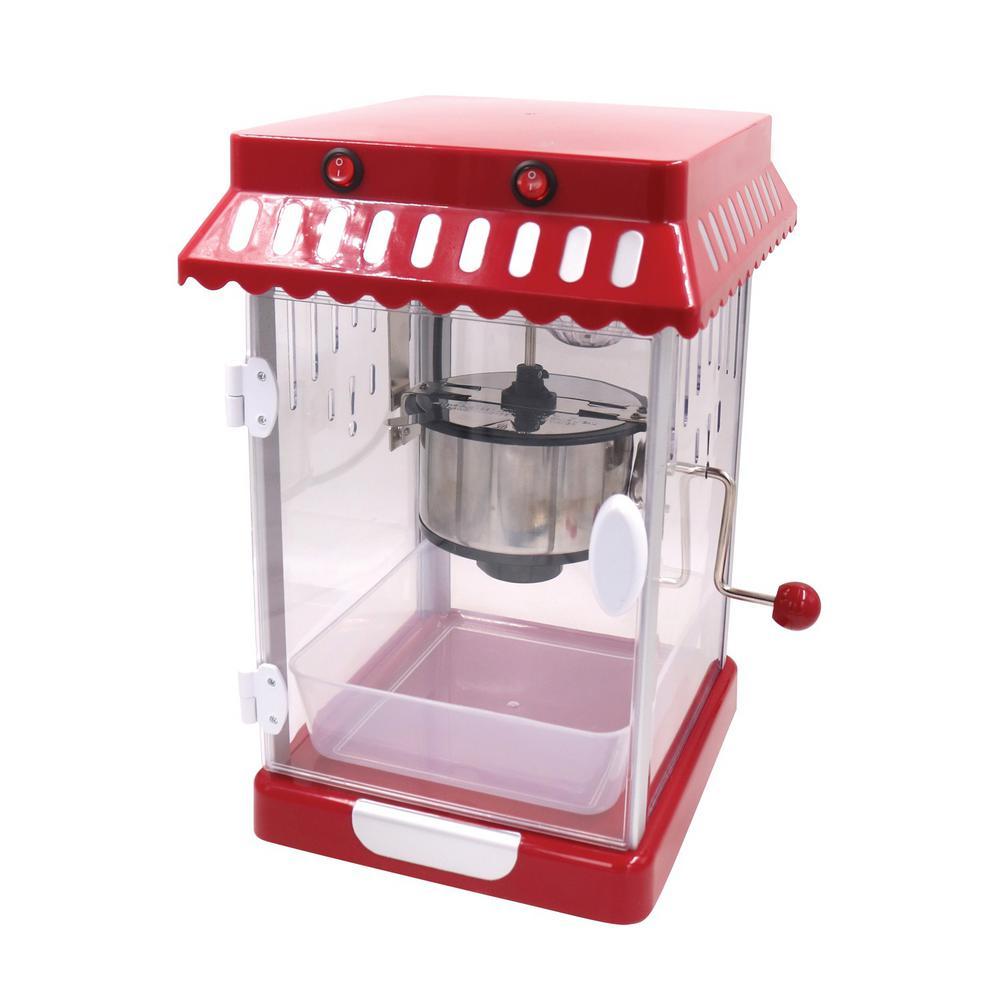 2.5 oz. Red Retro Theater-Style Countertop Popcorn Machine