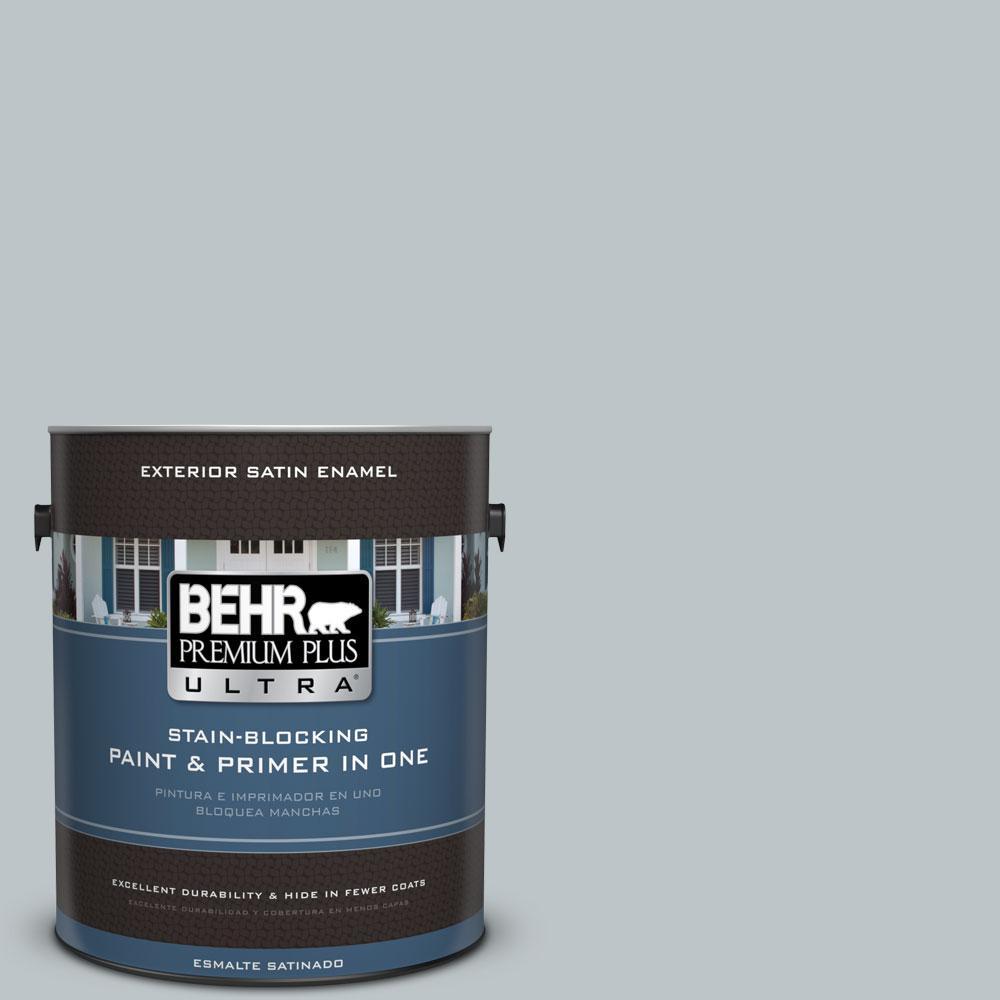 BEHR Premium Plus Ultra 1-gal. #PPU12-10 Misty Morn Satin Enamel Exterior Paint
