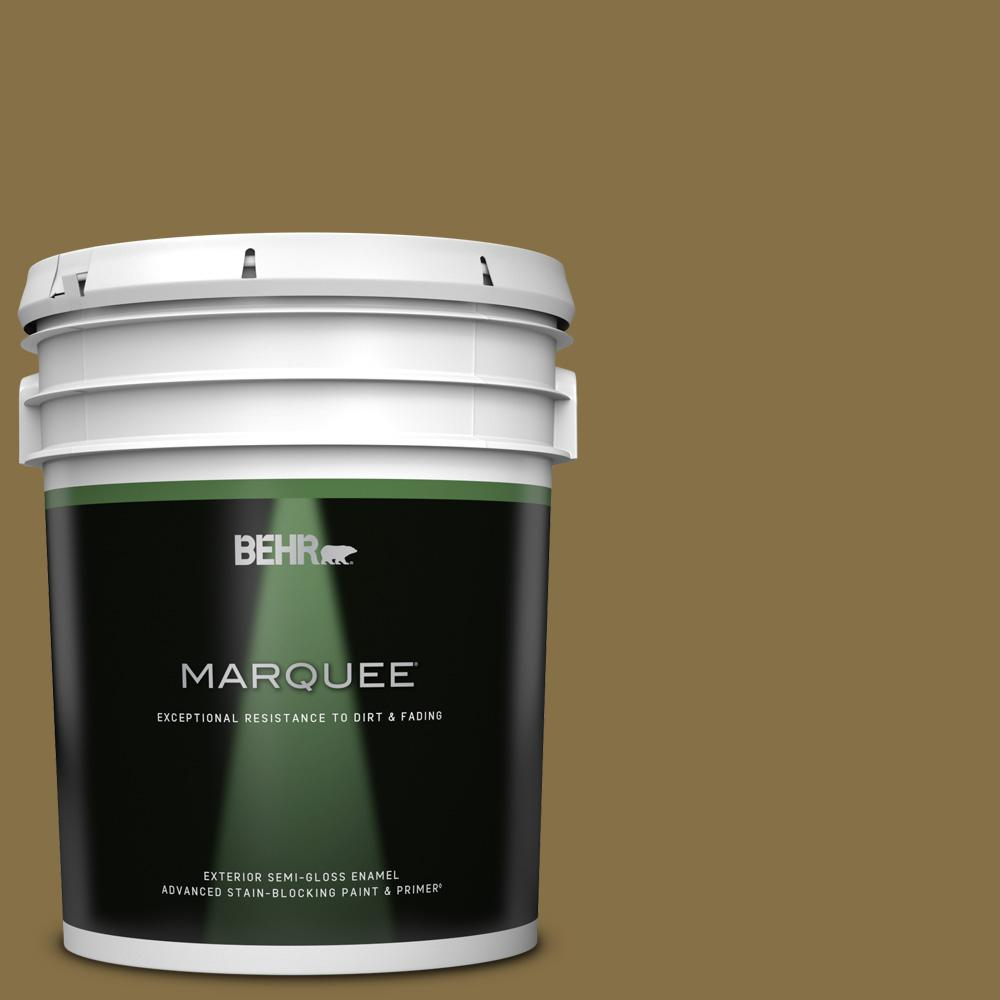 Reviews For Behr Marquee 5 Gal 370f 7 Pinetop Semi Gloss Enamel Exterior Paint Primer 545305 The Home Depot
